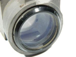 Lente in cristallo Bausch & Lomb  diam. mm. 35, focale  mm. 350