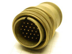 MS3106A 24-28P Amphenol, connector plug male 24 pin gold