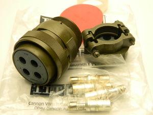 CA3106F32-17S-F80  Cannon connector plug female 4 pin