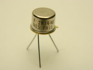 2N3440 transistor Philips NPN 250V 1A TO39