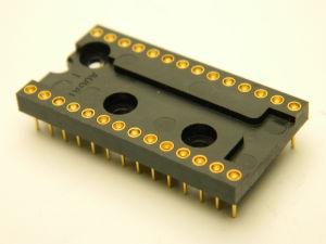 Augat 528AG10D zoccolo per integrati 28pin contatti oro norme MIL