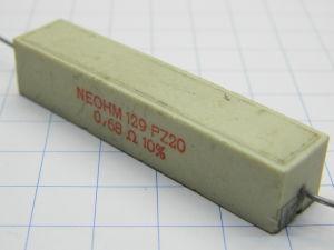 0,68ohm 20W resistor NEOHM PZ20