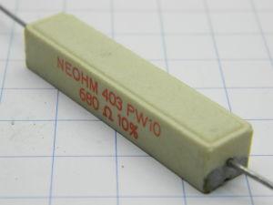 680ohm 10W resistenza NEOHM PW10