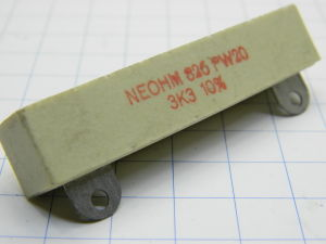 3,3Kohm 20W resistenza NEOHM PW20
