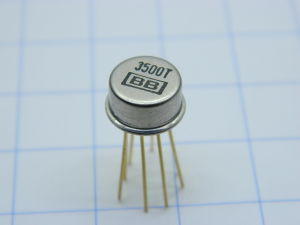 3500T BURR-BROWN TO99 op amp 1Mhz,  gold pin , circuito integrato