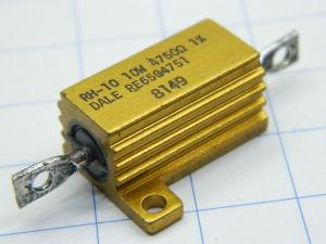 4750ohm 10W 1% precision resistor  DALE RH10, nos