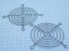 Coppia griglia protezione per ventole mm. 80x80 , metallo cromato