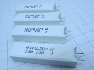 10ohm 10w resistenza a filo (n.4 pezzi)
