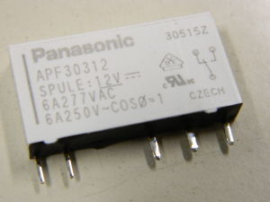 Relè Panasonic APF30312 12Vcc  1scambio 6A 250V