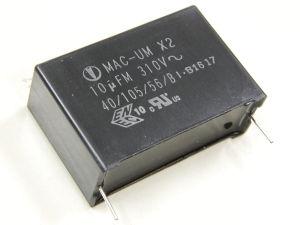 10uF 310Vac capacitor MAC-UM X2, filter class suppression X2