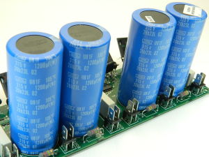 1200uF 315Vdc capacitor NIPPON CHEMICON ( n.4pcs. on PCB)