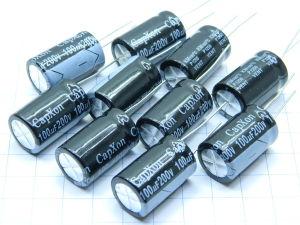 100uF 200Vdc capacitor CapXon 105° KM101M200 J250 (n.10pcs.)