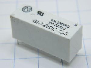 Relè GI-12Vdc-C-S  bobina 12Vcc 1 scambio 10A