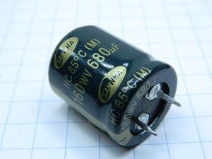 680uF 160V  SAMWHA  capacitor  snap-in