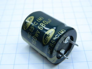 680uF 160V  SAMWHA condensatore elettrolitico snap-in