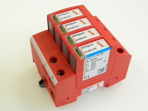 DEHNguard DG M TT 275FM surge arrester unit, 4 modules