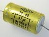 47uF  350/400Vcc condensatore elettrolitico assiale MICRO TC-85, audio vintage