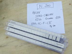 Lot n. 200 Relè 12V 1 scambio 10A  Song-Chuan 899-1C-F-CE , arduino