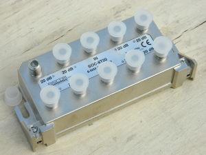 Splitter distributore 5-1000Mhz 8vie Siscom SOC-8T20, HDTV CAT TV