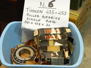 TIMKEN 455 + 453 roller bearing single row  mm. 50,5x108x30  (n.6pcs.)