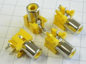 Connector RCA pin jack female  pcb  (n.4pcs.)