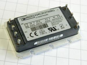 DC-DC converter VICOR V24C3V3T50B6,  input 24Vdc - output 3,3Vdc  50W