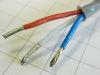 Cable 3xAWG16 teflon grey twist.