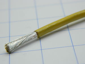 1xAWG12 Space cable FEP/Polyjmide insulated, NEXANS 1871 1-12AQ