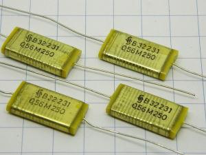 0,56uF 250V capacitor SIEMENS B32231 Klangfilm (n.4pcs.)