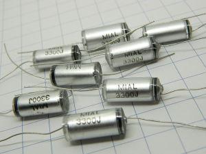 3300pF 630V capacitor Styroflex vintage audio (n.8 pezzi)
