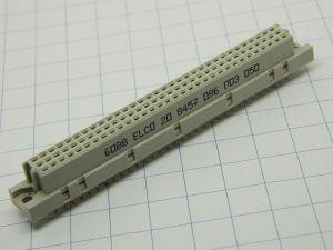 Connettore 64 poli ELCO 6D88,  femmina da circuito stampato DIN41612