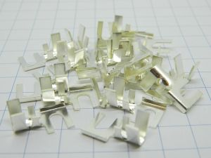 Housings silver plated mm.4,  wire 6mmq. (n.20pcs.)