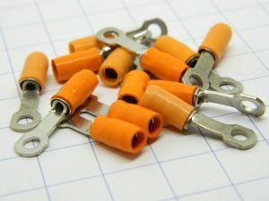 Housings Teflon orange insulated  mm.3,  wire 1,5mmq. (n.12pcs.)