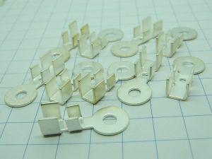 Capicorda terminale  argentato, foro mm.4,  cavo 10mmq. (n.10 pezzi)