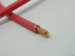 Filo unipolare AWG10 solid core,  rame OFC naturale,  isolamento in PVC rosso