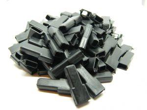Copri faston femmina neri (n.100 pezzi)