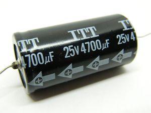 4700uF 25V condensatore elettrolitico assiale ITT