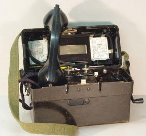Original German field telephone