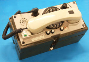 Waterproof German field telephone with deal , connectors Schaltbau VG 95351 B7 and VG 95351 A7