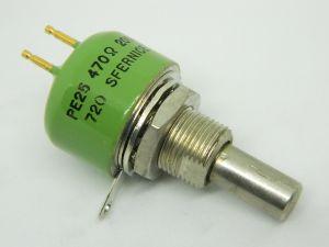 Potentiometer 470ohm SFERNICE PE25 , pin gold plated