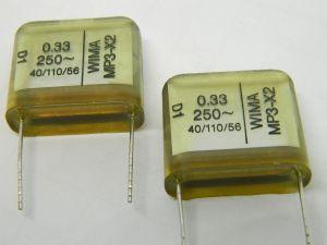 0,33uF 250Vac/400Vdc capacitor WIMA MP3-X2 (n.2pcs.)