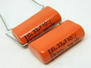 0,33uF 630Vdc capacitor PHILIPS MKT HQ High Quality (n.2pcs.)