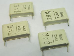 0,22uF 400Vcc condensatore EVOX RIFA MMK (n.4 pezzi)