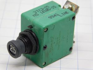 Klixon MS14105-25 circuit breaker aircraft 25A , interruttore termico ripristinabile