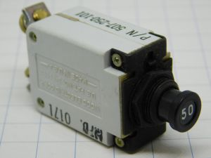 Wood Electric Corp  507-250-101,  circuit breaker aircraft 50A, interruttore termico ripristinabile