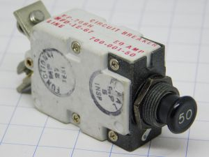 Mechanical Products MP-708H 700-001-50,  circuit breaker aircraft 50A, interruttore termico ripristinabile
