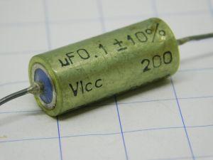 0,1uF 200Vcc condensatore carta olio ICAR HT20-05-A2