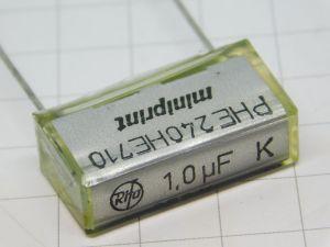 1uF 250Vcc condensatore RIFA Miniprint PHE240HE710