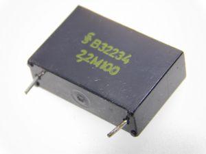 2,2uF 100Vcc condensatore SIEMENS R32234 Klangfilm, vintage nos (n.2 pezzi)