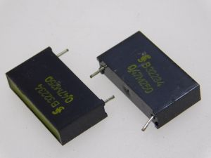 0,47uF 250Vcc condensatore SIEMENS R32234 Klangfilm, (n.2 pezzi))